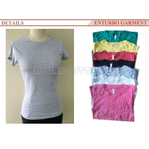 WOMEN'S SHORT SLEEVES PLAIN T-SHIRTS STOCKLOT