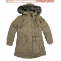 Women's Padded Winter Overcoat Stock lots with fur hood