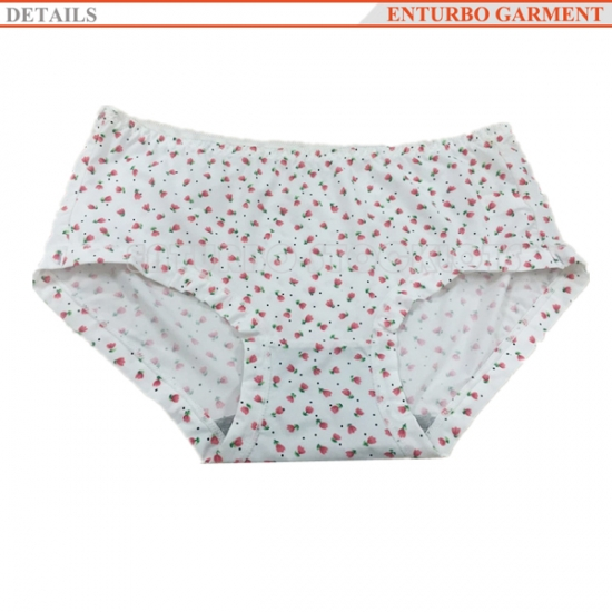Lady panty with flower printing