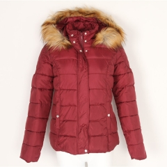 Wool Fur Hood Winter Coats