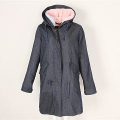 Denim Color Winter Coat