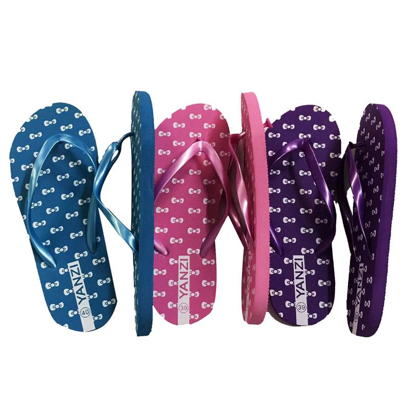 New Arrival Stock Ladies Printing Slippers Stock